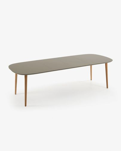 Oqui extendable table 160 (260) x100 cm brown