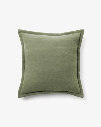 Lisette cushion cover 45 x 45 cm in green