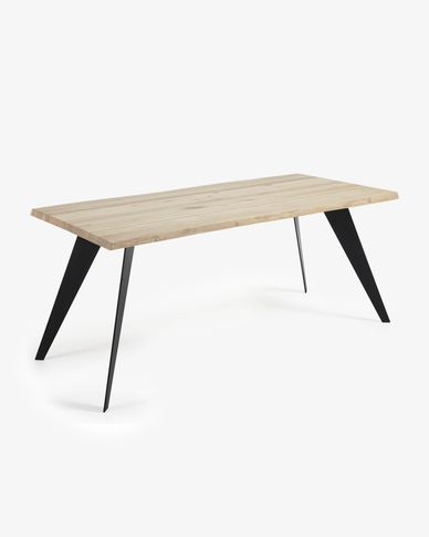 Koda table 160 cm bleached oak black legs