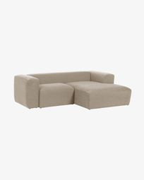 Sofà Blok 2 places chaise longue dret beix 240 cm