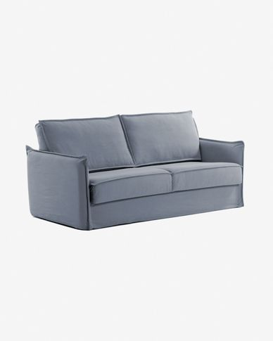 Samsa sofa bed 160 cm polyurethane blue
