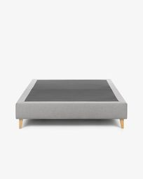 Bed base high Nikos 140 x 190 cm grey