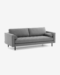 Dark grey 2-seater Debra sofa 182 cm