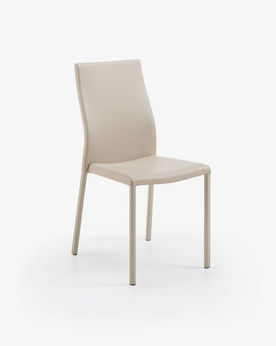 Abelle chair beige leather