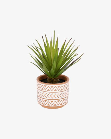 Zelena artificial small palm plant