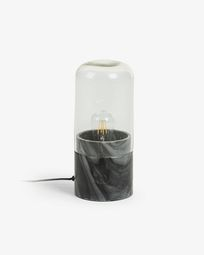 Cleo table lamp black marble