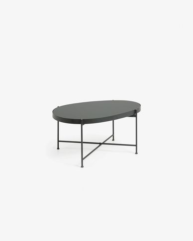 Table d'appoint Marlet noir 82 x 55 cm