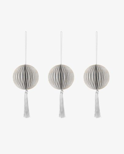 Clorinda white bauble set