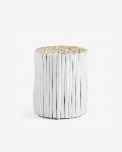 White Filip side table Ø 35 cm