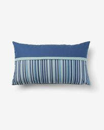 Blu cushion cover blue and stripes