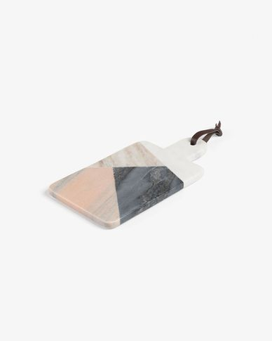 Bergman rectangular cutting board multicolor marble