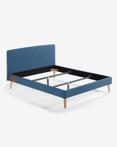 Dyla bed 150 x 190 cm donkerblauw