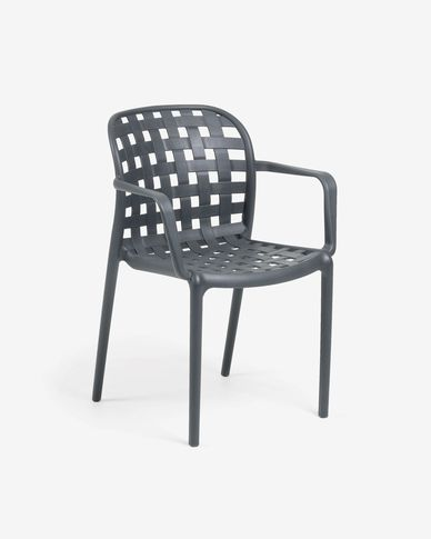 Isa armchair dark grey