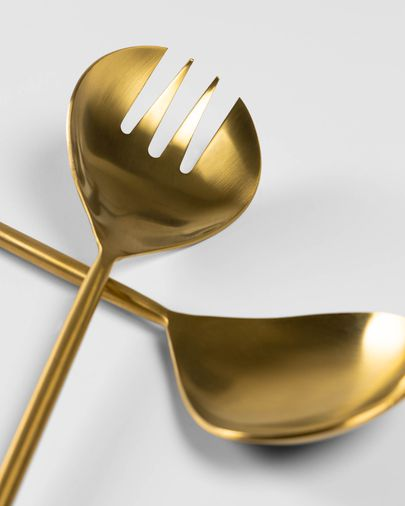 Lite 2-piece cutlery set for salad gold