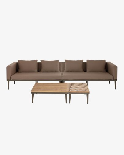 Pascale sofa, coffee table and side table set