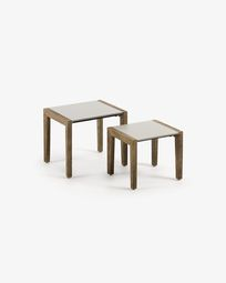 Set Clodie of 2 side tables