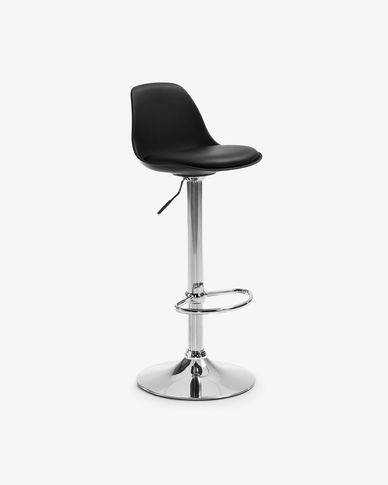 Orlando-T barstool black height 60-82 cm