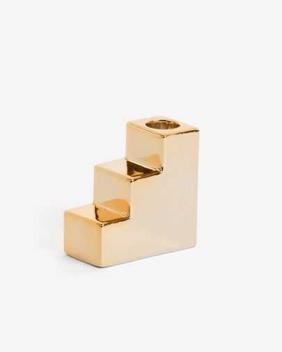 Anteia candle holder in gold