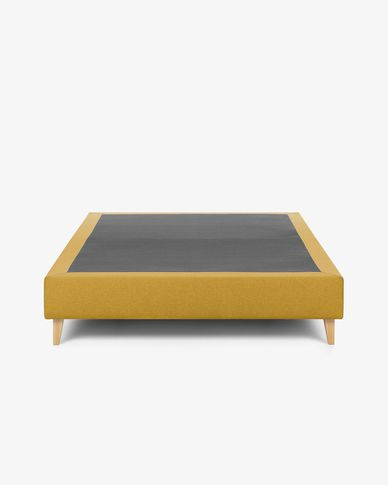 Bed base high Nikos 140 x 190 cm mustard