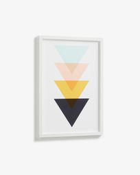 Bekko wall picture triangles 43 x 63 cm