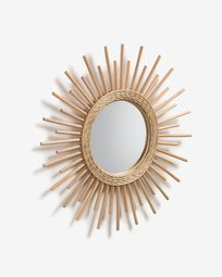 Natural Marelli mirror Ø 60 cm