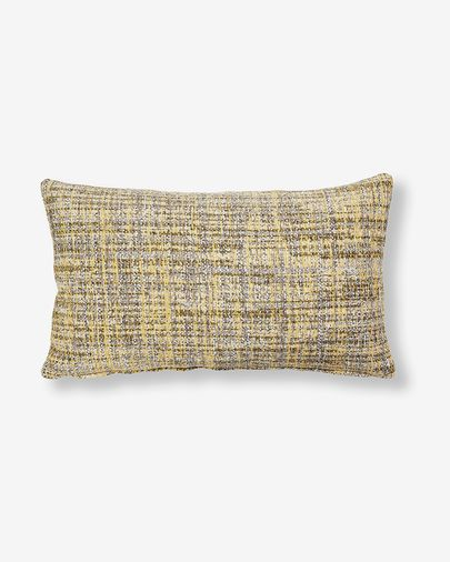 Housse coussin Boho 30x50 cm moutarde