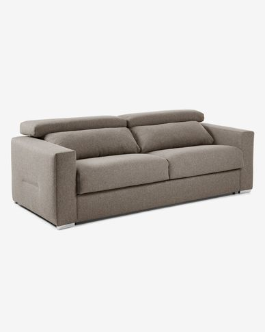 Kant sofa bed 160 cm polyurethane brown