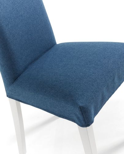 Freda chair dark blue and white