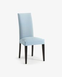 Freda chair light blue and black
