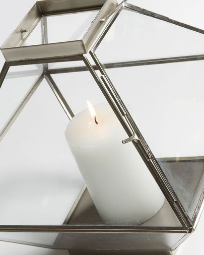 Storm candle holder nickel