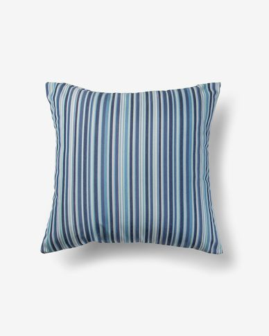 Blu cushion cover strisce