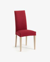 Burgundy and natural Freda chair