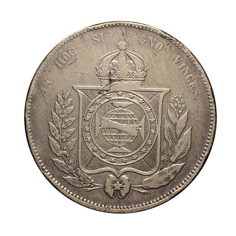 3 moedas de prata do Brasil Império