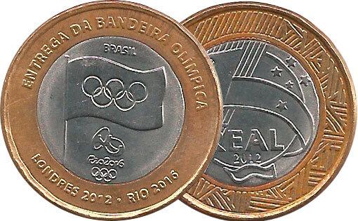 1 moeda da Bandeira