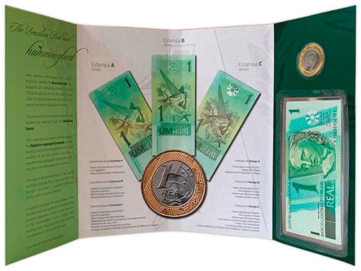1 folder dos 25 anos do real (Numismática Completei)