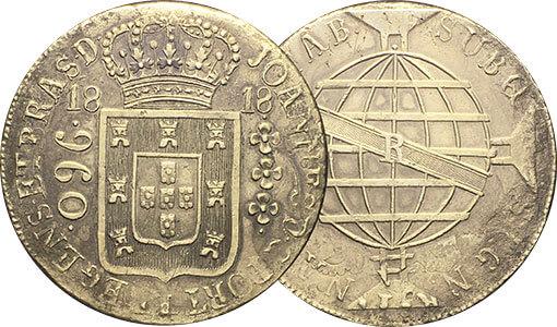 1 moeda 960 réis de 1818-R