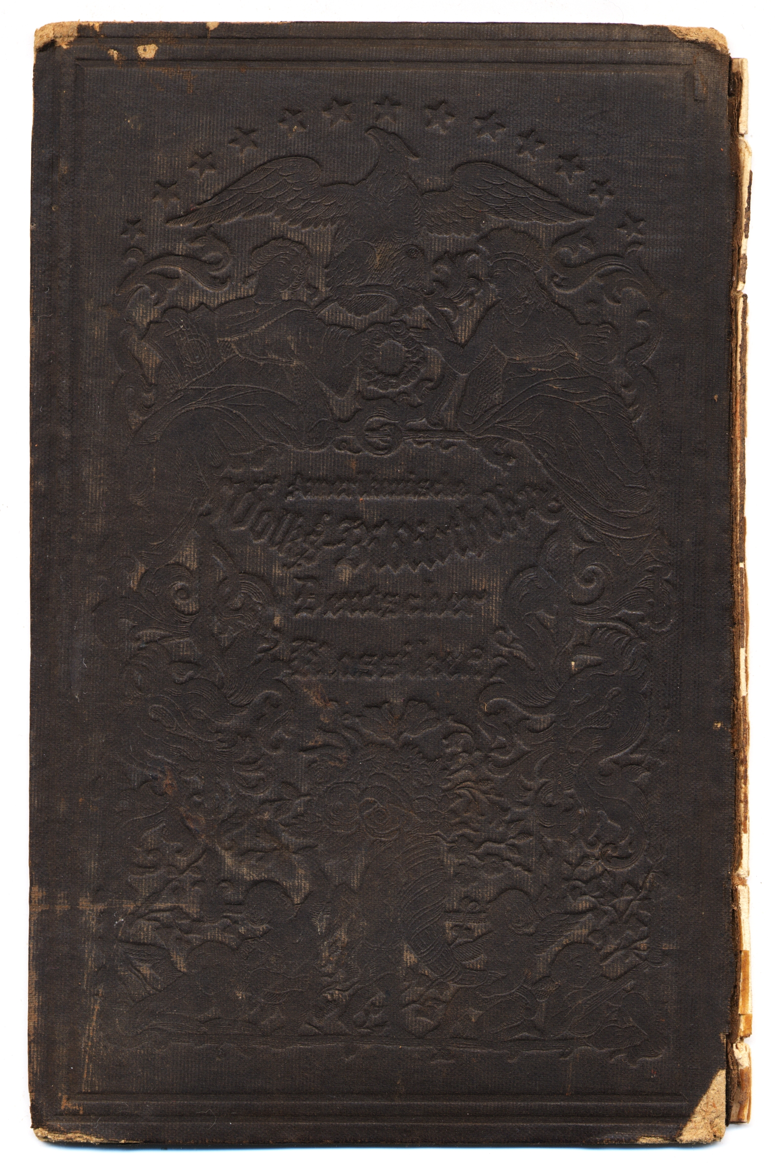 Free Black Bumpy Old Book Cover Texture