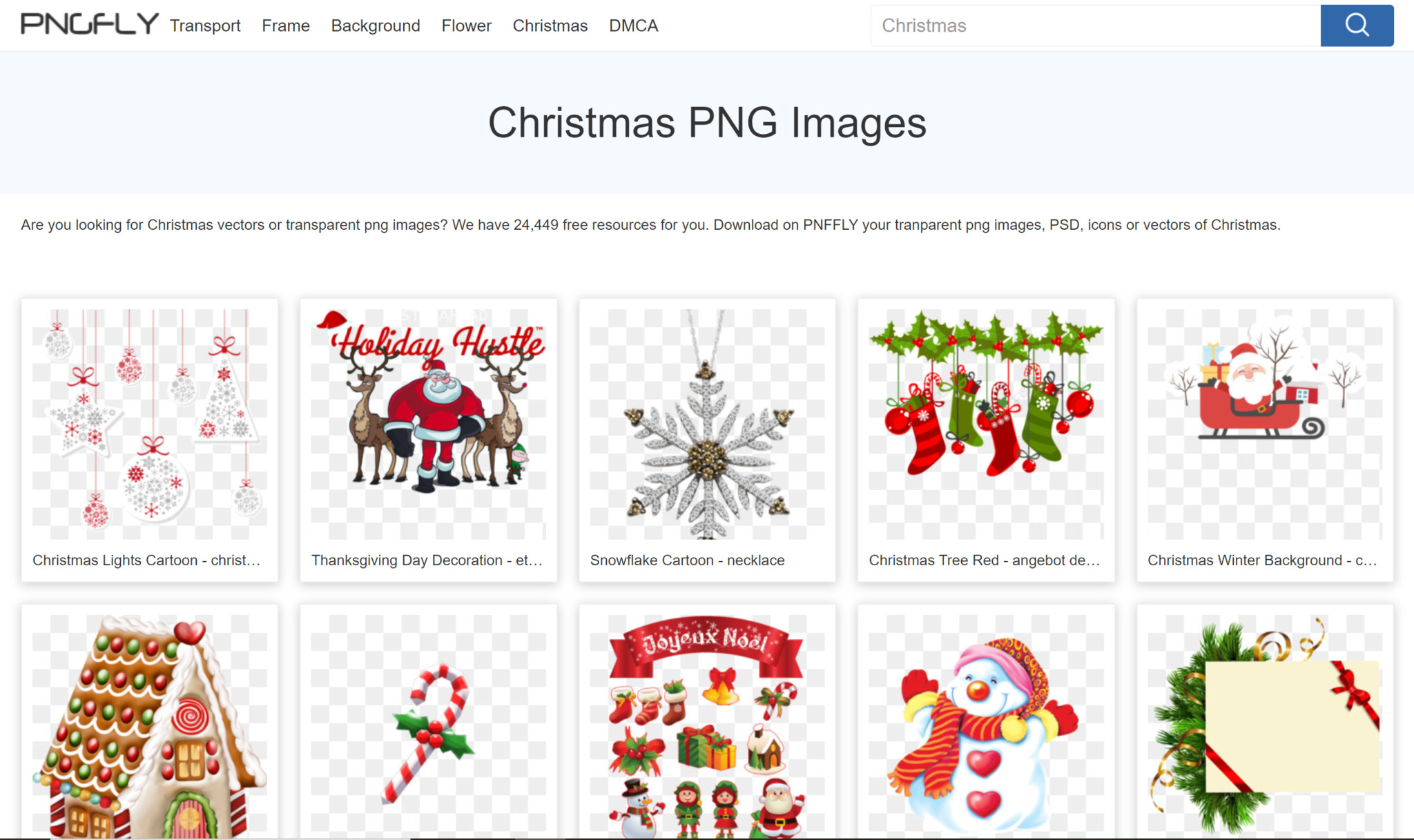 free christmas png icons and images