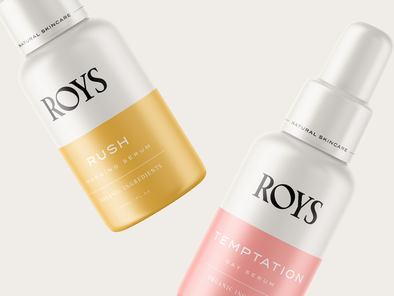roys morning serum packaging ideas and design