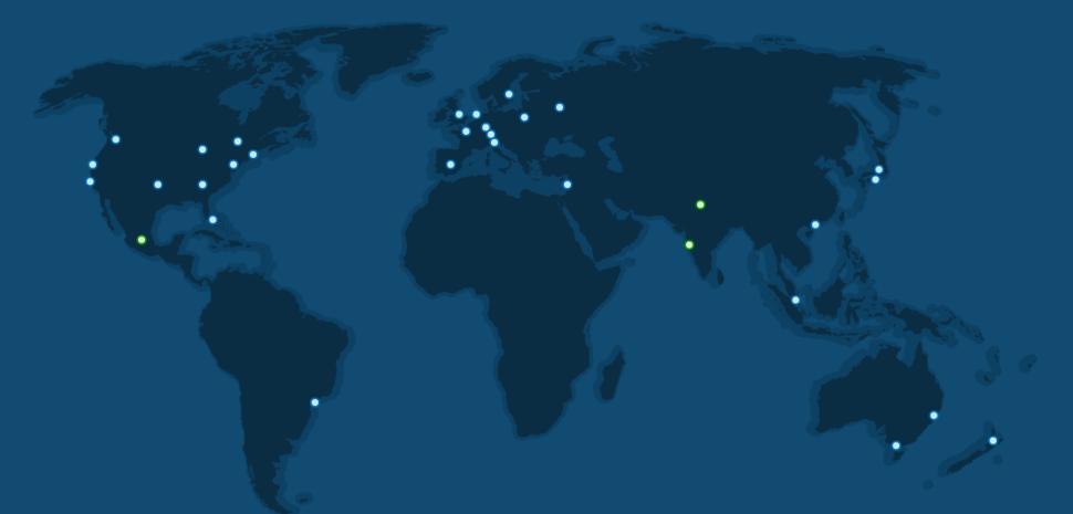 CDN global server map