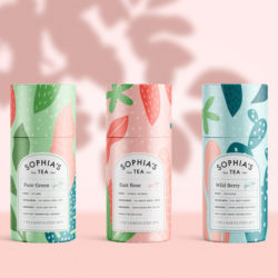 sofias tea packaging design ideas