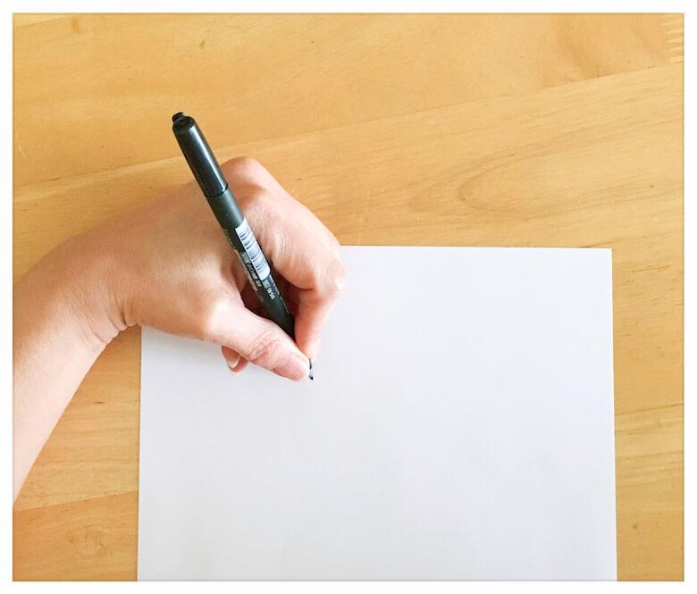 left-handed lettering