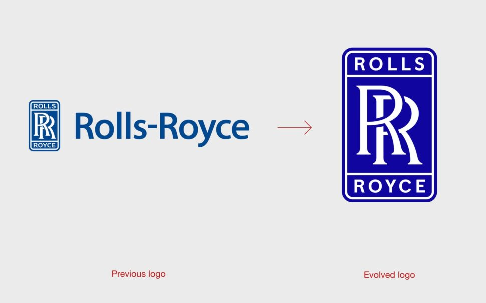 rolls-royce before and after rebranding