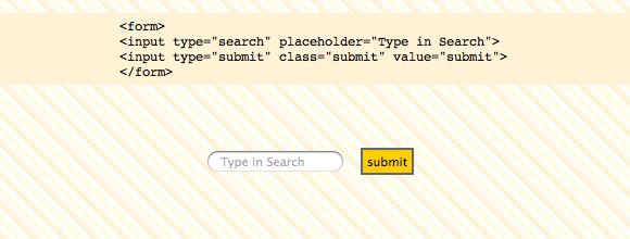 Seach type in html5