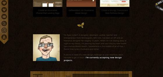 Ryan Scherf main portfolio page