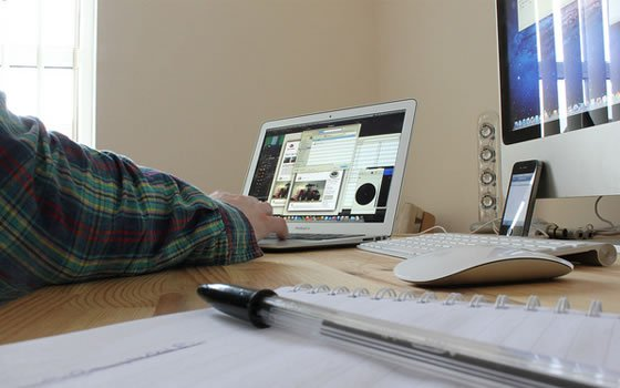 featured image - working from home office iPhone laptop