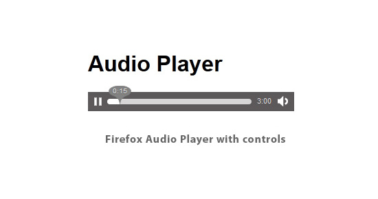 Firefox native audio player