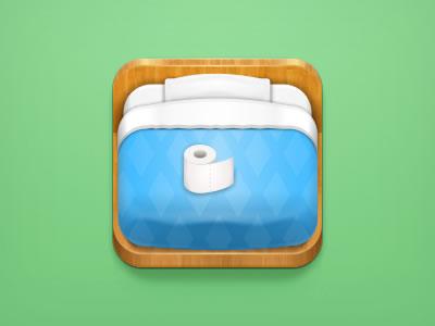 lonely otaku blue bed ipad iphone icon design