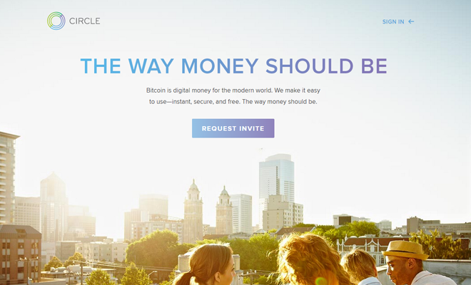 circle internet financial website homepage design