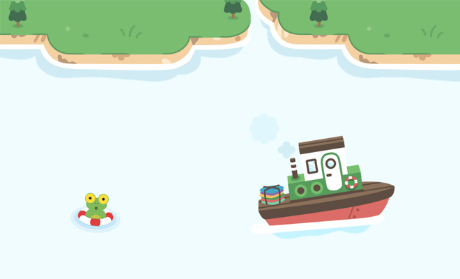 full page css3 animation sailboat